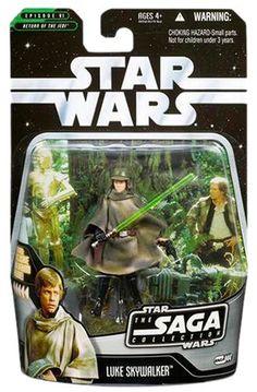 Amazon.com: Star Wars - The Saga Collection Basic Figure Luke Endor: Toys & Games