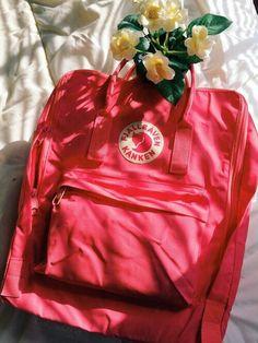 Peach Pink kanken Pink Kanken, White Converse, Pink Aesthetic, Kanken Backpack, Girl Outfits, Peach, Girly, Backpacks, Girl Stuff
