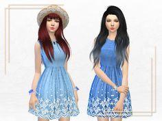 The Sims Resource: Summer Dress by Sakura Phan • Sims 4 Downloads