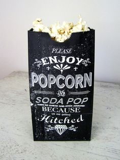 Great Typography on a wedding popcorn bag - @evanashed will love this!!
