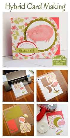 Tutorial for making cards from Digital Scrapbooking supplies.  This one includes videos and reviews how to use templates, how to use photoshop brushes to stamp sentiments and how to combine templates with digital cutting files.