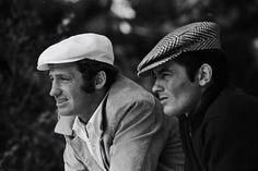 """Alain Delon y Jean Paul Belmondo en """"Borsalino"""", 1970"""