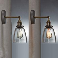 Ecopower Industrial Edison Simplicity Mini Glass Wall Sconces Antique - - Amazon.com $42