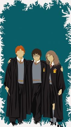 Celebrate the friendships forged in the halls of Hogwarts on the third day of Christmas. Harry Potter Friends, Harry Potter Books, Harry Potter Fandom, Harry Potter World, Harry Potter Navidad, Harry Potter Christmas, Fans D'harry Potter, Harry Potter Collection, Harry Potter Wallpaper
