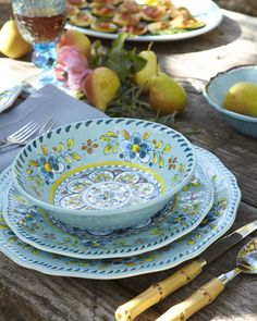 Outdoor dinnerware - Madrid Melamine Dinnerware