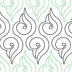 """Lorien's Arabesque - Paper - 11"""" - Quilts Complete - Continuous Line Quilting Patterns"""