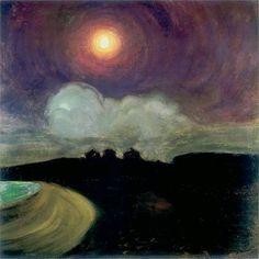 Gustaw Gwozdecki, Moon, c. 1908, oil on canvas