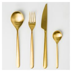 Couteau Linea Ice Gold en acier inoxydable - Table & Cuisine - The Conran Shop