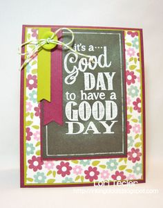 It's a Good Day cs chalkboard greetings mft