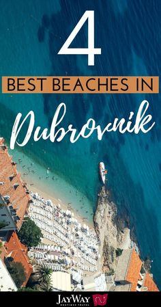 In part 1 of a 5 part guide to Croatia's best beaches, we take a look at 4 beaches in and around Dubrovnik: Banje Beach, Sv Jakov Beach, Buza and Lokrum. Europe Travel Tips, Travel Destinations, European Travel, Travel Guides, Lokrum Island, Croatia Travel, Croatia Itinerary, Beaches In The World, Beach Trip