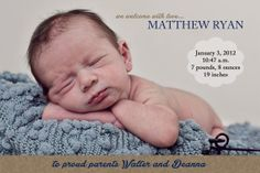 Custom Designed and Personalized Baby Boy by RSVPinvitationsbyme, $7.00
