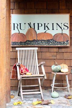 PUMPKINS gorgeous hand painted wood sign HUGE by mysweetsavannah, $125.00