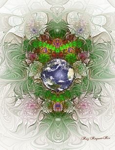 Earth Day Fractal  by Rozrr