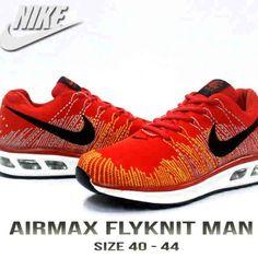 Nike Airmax Flyknit Man, Warna: Red, Size : 40-44. Untuk Pemesanan Online Kunjungi : www.rockford-footwear.com *Gratis pengiriman ke seluruh Indonesia Email: contact@rockford-footwear.com Pin :...