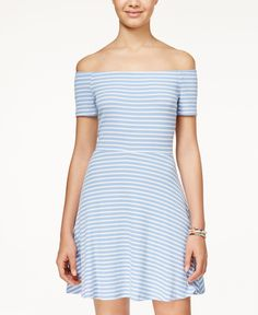 American Rag Striped Off-The-Shoulder Dress, Only at Macy's
