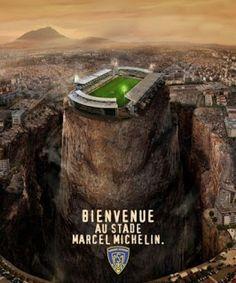 """ASM Clermont Auvergne Rugby Le Blog: Le Michelin, stade préféré du Top 14 : un """"17ème homme"""" ?"""