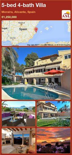 5-bed 4-bath Villa in Moraira, Alicante, Spain ►€1,250,000 #PropertyForSaleInSpain