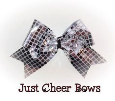 Silver Disco Ball  3 Inch Cheer Bow by Justcheerbows on Etsy, $10.00