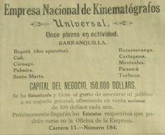 Empresa Nacional de Kinematógrafos · Archivo de Publicidad Colombiana 1800-1950