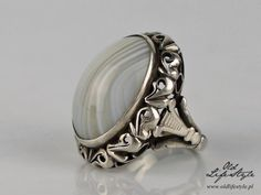 Old Jewelry, Poland, Jewerly, Gemstone Rings, Rings For Men, Sterling Silver, Antiques, Handmade, Diy