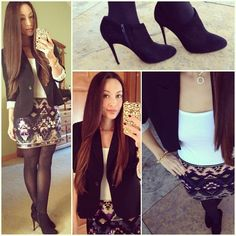 My New Year's Eve outfit ideas. Just bought this skirt from Express!