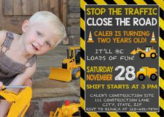 Dump Truck Birthday Invitation by LittleGermanBoutique on Etsy