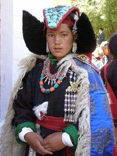 Traditional dress of Ladakhi Changpa