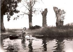 Yenni Ranch Patricia and Glenda in the Sulfer ponds