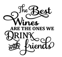 Drink wine with friends Vinyl decal for glass block by SayzItAll