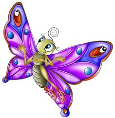 Very Colourful Butterfly Cartoon Images. All Images Are On A Transparent Background Butterfly Books, Butterfly Clip Art, Butterfly Wallpaper, Purple Butterfly, Butterfly Cartoon Images, Butterfly Pictures, Beautiful Butterflies, Art Pages, Clipart