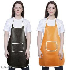 Aprons Classic Aprons ( Pack Of 2)  *Material * Apron - PVC  *Size (L x W)* Apron - 18  in x 28 in  *Description* It Has 2 Piece Of Kitchen Apron  *Pattern* Solid  *Sizes Available* Free Size *   Catalog Rating: ★4.2 (220)  Catalog Name: Hiba Lovely Aprons Combo Vol 1 CatalogID_123448 C129-SC1633 Code: 142-1022755-