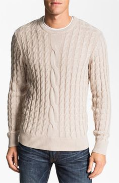 1901 Cabled Crewneck Sweater available at #Nordstrom