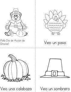 Día de Acción de Gracias Mini Book from TwistyNoodle.com