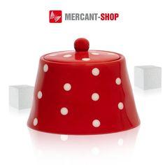 44308 - Zuckerdose rot/weiße Punkte, Keramik: Amazon.de: Küche & Haushalt