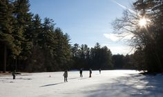 Ice skating on Shadow Lake in January 2013