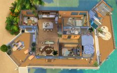 Sims 4 House Plans, Sims 4 House Building, Sims 4 Tattoos, Sims 4 House Design, Sims 4 Bedroom, Sims Free Play, Casas The Sims 4, Sims 4 Build, House Blueprints