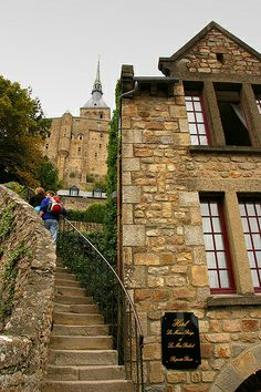 Steps to The Basilica, Mont St Michel, France