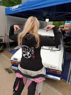 Rally codriver Gabi wears the Zip-Hoodie of the race car line. Power Girl, Powerful Women, Zip Hoodie, Strong Women, Rally, Race Cars, Adidas Sneakers, Sisters, Female Power