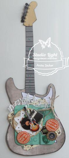 gitaar met plaatje uit Mijn Hobby Kaart 51