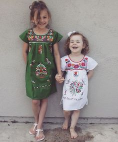 Embroidered Mexican Dresses for girls from Del Mex