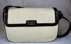 Etienne Aigner Parchment & Brown Trim Shoulderbag #EtienneAigner #ShoulderBag