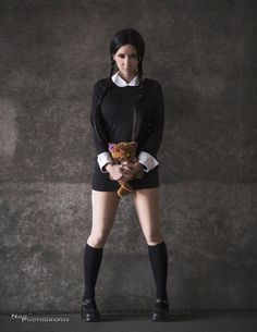 Character: Wednesday Addams / From: 'The Addams Family' / Cosplayer: Riki 'Riddle' LeCotey (aka Riddle's Messy Wardrobe, aka Riddle1) / Photo: Ngo Photography
