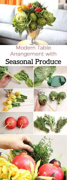 CENTROS DE MESA VEGETALES http://espores.org/es/ocio-verde/inspiracio-natural-centres-de-taula-vegetals.html