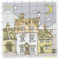 Схемы бесплатной вышивки дом