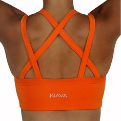 Endurance Bra - Tangerine this sight has gorgeous, colorful sports bras and tanks!