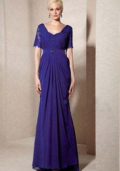 Queen Anne Floor Length Mermaid Chiffon & Lace Mother of the Bride/ Groom Dresses - Angeldress.co.uk