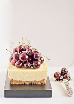 Easy, no bake Cherry Cheesecake