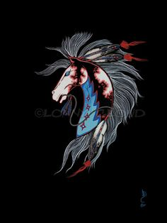 Lonny Cloud Native American Fine Art Giclee by ThunderPuppyArt, $36.00  Fine Art Giclee by Internationally Recognized Artist Lonny Horse Cloud Open edition Taken from my original painting done in Acrylic on art board. Painted in traditional Santa Fe flat style  10x12 image on 12x14 fine art water color paper  Limited edition and open edition prints available as gallery wrapped and water color paper giclee prints. www.bonefeatherjewelry.com