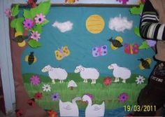Spring bulletin board idea for kids | Crafts and Worksheets for Preschool,Toddler and Kindergarten