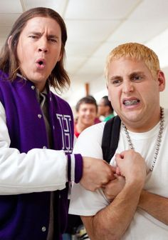 heyyy! not so slim shady. Channing could definitely lose that long, ugly hair though.